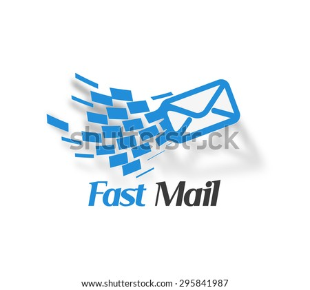 Fast Mail icon Template Design - stock vector