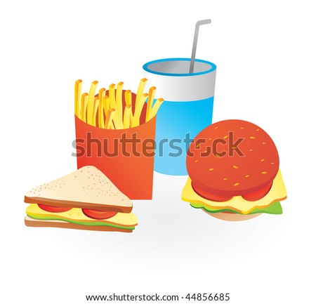 fastfood icons - vector illustration - stock vector