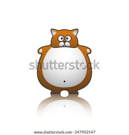 fat cat - stock vector