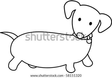 Fat Dachshund - stock vector