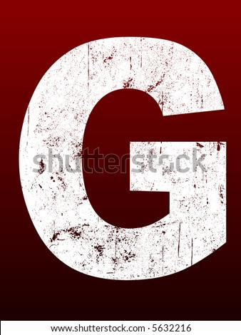 Fat Grunged Letters - G (Highly detailed grunge letter) - stock vector
