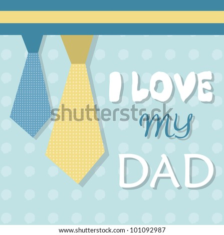 fathers day card - stock vector