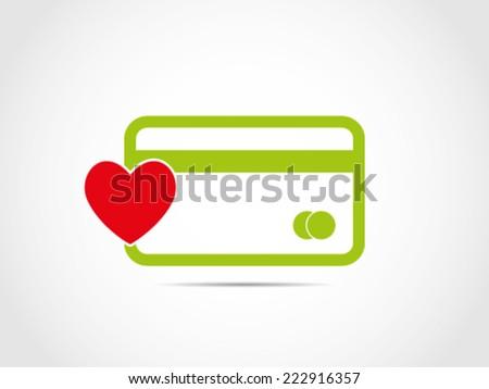 Favorite Consumer Credit Card - stock vector