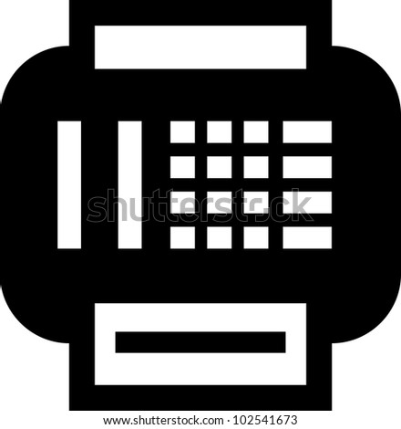 Fax - Vector icon isolated - stock vector