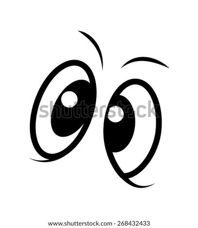 Fearful Comic Eyes - stock vector