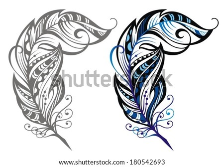 Feathers - stock vector