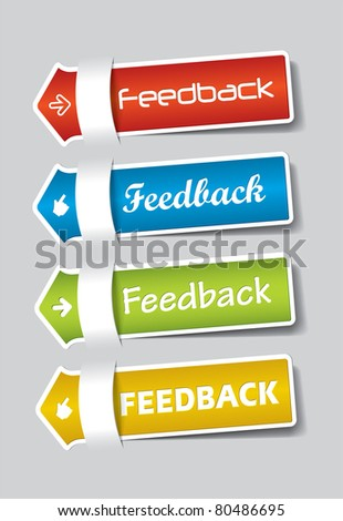 Feedback Labels colorful - stock vector