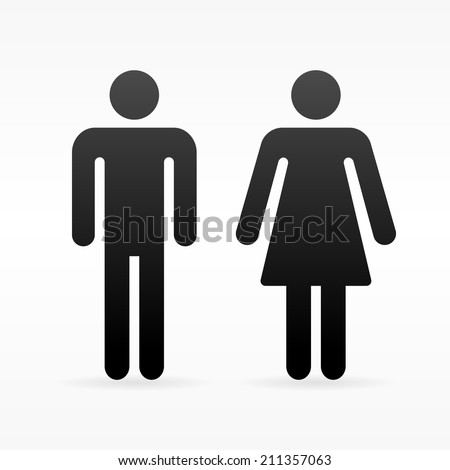 Female and Male symbol - stock vector