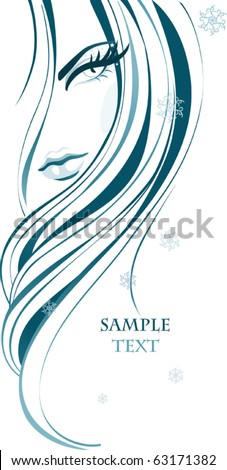 Female background - stock vector
