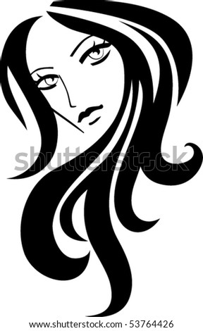 Female icon - stock vector
