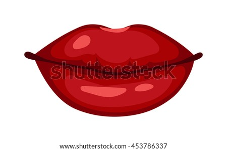 Female lips isolated on white sweet passion lust makeup mouth. Set woman lips romance cosmetic sensuality desire. Set of mouth smile woman red woman lips isolated shape romantic - stock vector