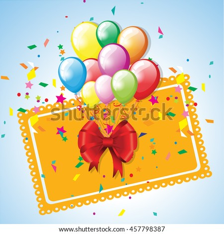 Festive background with balloons - stock vector