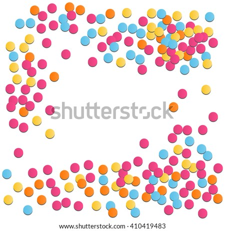 Festive Celebration Bright Confetti Isolated on White Background - stock vector