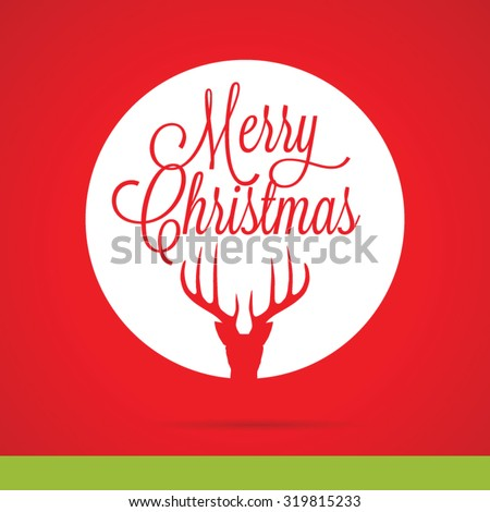 Festive christmas reindeer background - stock vector