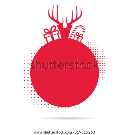 Festive christmas reindeer background - stock vector