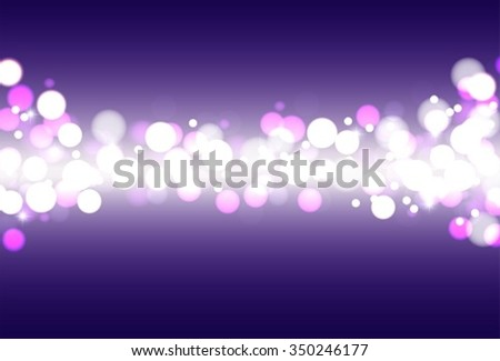 Festive defocused lights on a blue background. Abstract background with glow. - stock vector