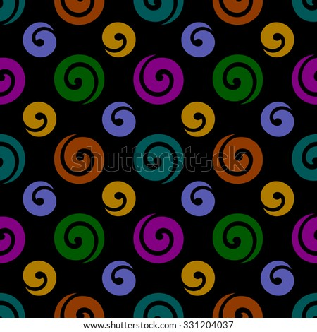 Festive seamless background with swirls - stock vector
