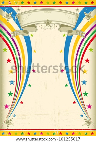 Festive vintage poster. A vintage multicolor poster for your party ! - stock vector