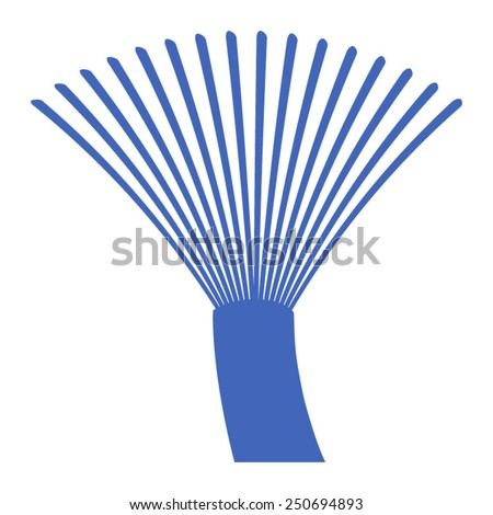 Fiber optics communication cable wire icon - stock vector