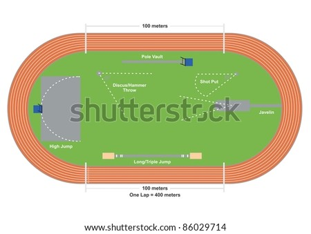 Field of Sports - stock vector
