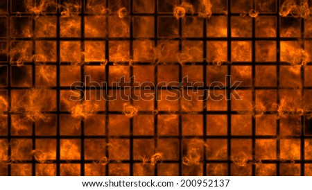 Fiery background.  - stock vector