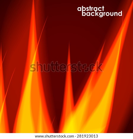 Fiery background. Vector illustration. Eps 10 - stock vector