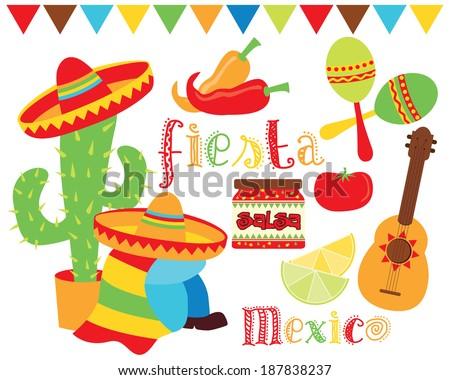 Fiesta Time / Mexico / Cinco De Mayo - stock vector