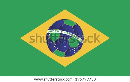 FIFA World Cup Brazil ball, vector - stock vector