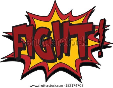 fight - stock vector