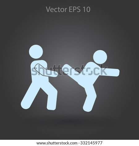 fight vector icon - stock vector