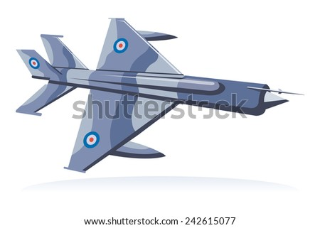 fighter jet, fighter aircraft - stock vector