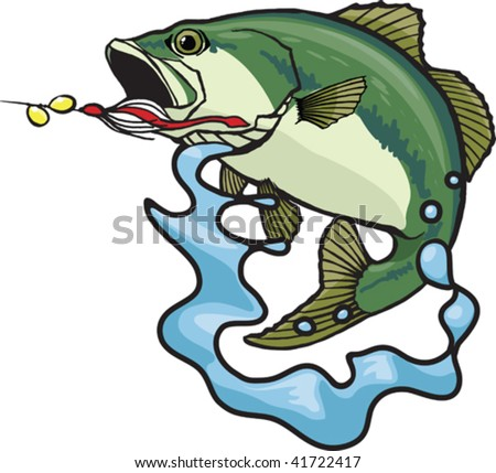 Fighting Bass - stock vector