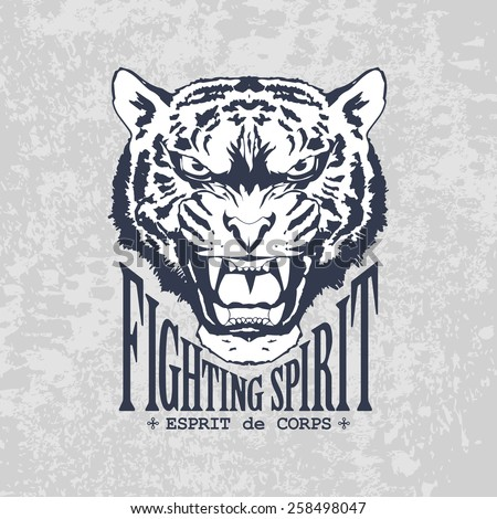 Fighting Spirit - stock vector
