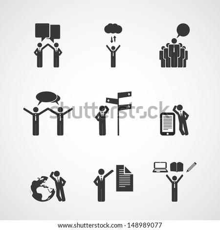 Figure, People Icons - Business Concept - stock vector