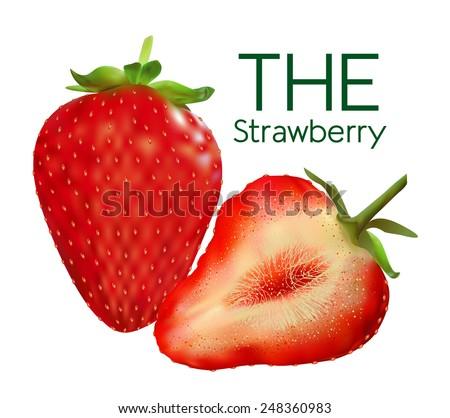 Figure ripe strawberries - stock vector