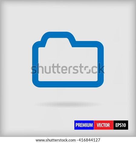 File folder Icon. File folder Icon Vector. File folder Icon Sign. File folder Icon Picture. File folder Icon Image. File folder Icon Illustration draw. File folder Icon JPEG. File folder Icon EPS10. - stock vector