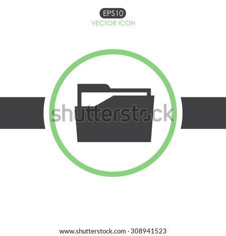 File folder vector icon. - stock vector