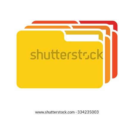 file folder vector icon - stock vector