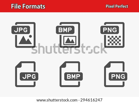 File Formats Icons. Professional, pixel perfect icons optimized for both large and small resolutions. EPS 8 format. - stock vector