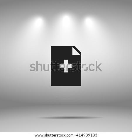 file icon.file sign - stock vector