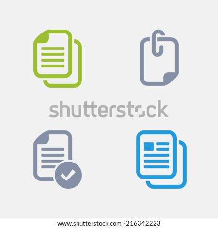 File Icons. Granite Series. Simple glyph stile icons in 4 versions. The icons are designed at 32x32 pixels. - stock vector