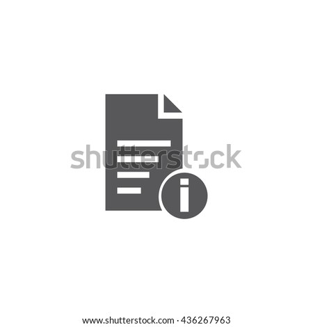 File Info Icon, File Info Icon UI, File Info Icon Vector, File Info Icon Eps, File Info Icon Jpg, File Info Icon Picture, File Info Icon Flat, File Info Icon App, File Info Icon Web - stock vector
