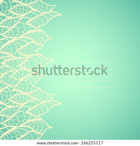 Filigree frame with lace. Can be used for wedding invitation or some text. - stock vector