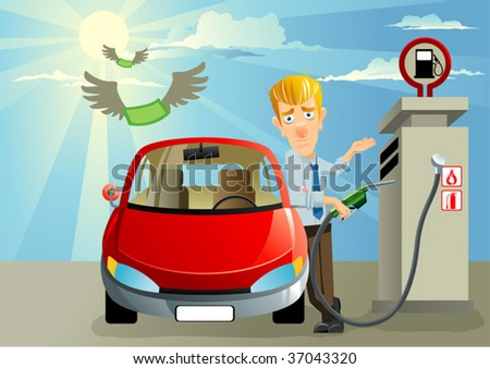 Fill Petrol - stock vector