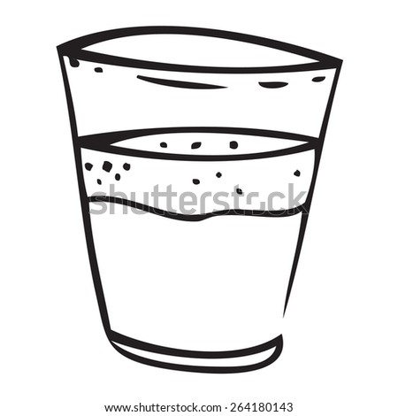 Filled Glass Doodle - stock vector