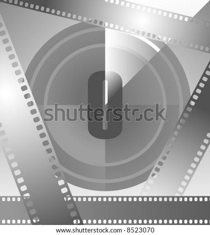 film countdown at number 0 - stock vector