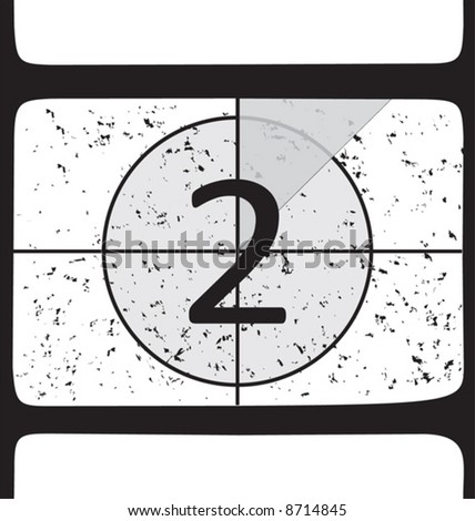 Film countdown at number 2. Vector illustration - stock vector
