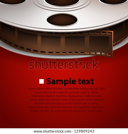 Film frame cover tape, Vector background - stock vector
