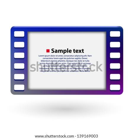 Film frame 35mm - stock vector