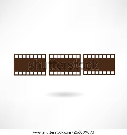 film from the camera illustration - stock vector